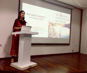 """This is the first time in the history of medicine that a disease has reached epidemic proportions and yet is fighting to get labelled as a """"disease"""". India is the 3rd fattest country in the world along with being the world's diabetic capital. What is even more surprising is that though bariatric surgery is the only method that leads to sustained weight loss in the morbidly obese, less than 1% of the eligible population is actually getting the benefit of surgery. This was the crux of my talk for general physicians."""
