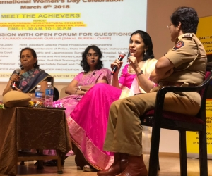 """Speaking about the journey as a woman surgeon in bariatric surgery at a Women's day event organized by Decimate Cancer at Maharshi Karve Educational Institute, Pune. """"Women must see their gender as an advantage and not a disadvantage. A lot can be accomplished just by changimg the mindset and providing opportunities""""."""